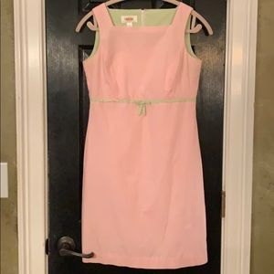 Talbots pink gingham sheath dress size 4P